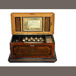 A very interesting 'Mandoline Piccolo-Zither Timbres' musical box, by Paillard, circa 1880,