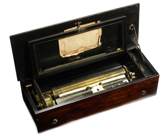 A 'Mandoline-Expressive Zither' musical box, by Paillard Vaucher et fils, circa 1883,