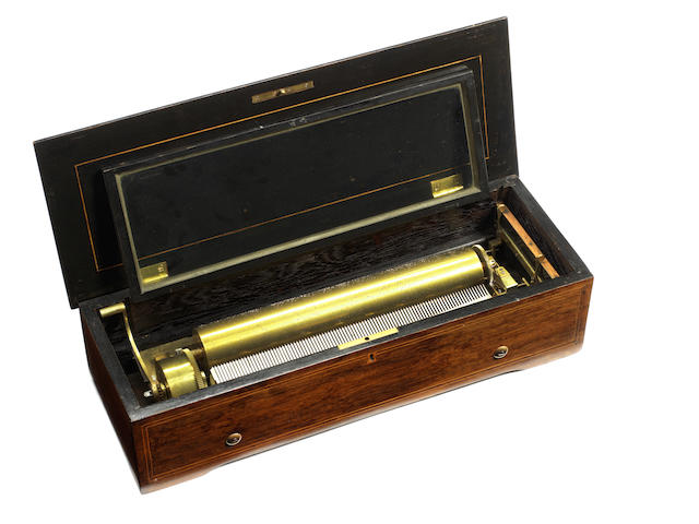 A musical box playing eight airs, by Nicole Freres, circa 1868,