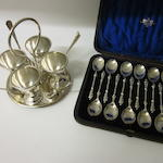A set of twelve Victorian silver apostle teaspoons, Victorian registration mark, Sheffield 1875,   (2)