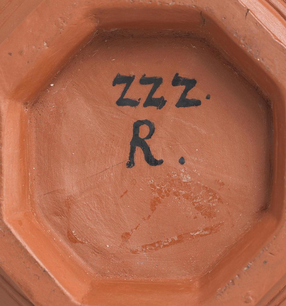 A very rare Meissen Böttger stoneware coffee pot and cover, circa 1710-13