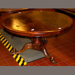 A Victorian walnut veneeered circular breakfast table,
