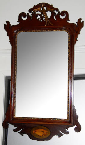 Two 18th century-style mahogany wall mirrors