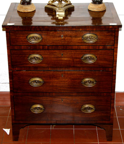 A George IV mahogany commode
