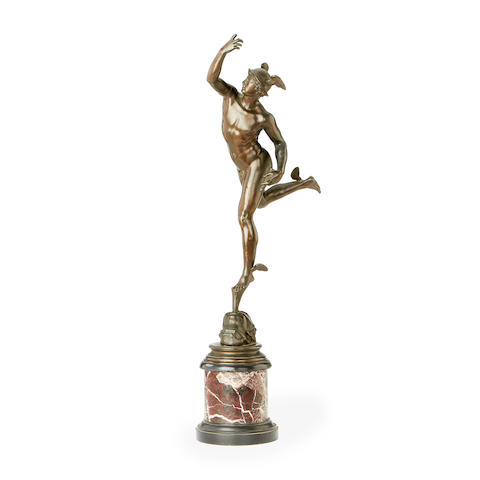 After Giambologna, Italian (1529-1608) A bronze model of Mercury