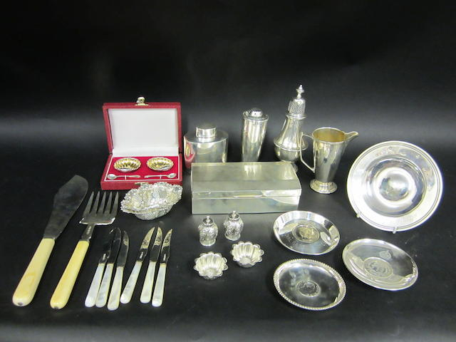 A collection of silver Various dates and makers  (qty)
