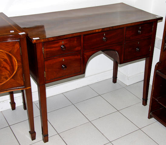An early Victorian mahogany sideboard,