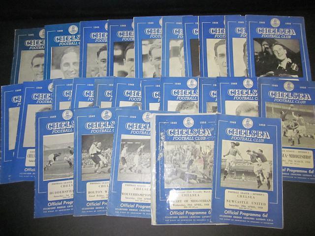 1949/50 Chelsea home programmes