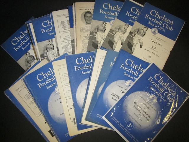 1950/51 and 1951/52 Chelsea home programmes