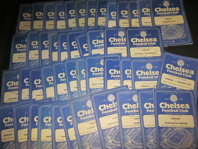 1954/55 and 1955/56 Chelsea home programmes