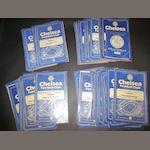 1956/57, 1957/58, 1958/59 and 1959/60 Chelsea home programmes