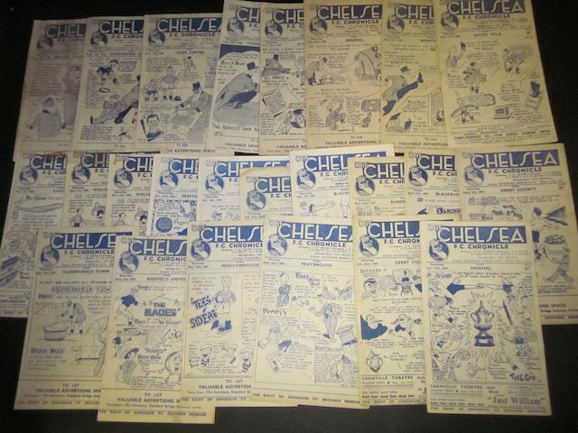 1947/48 Chelsea home programmes