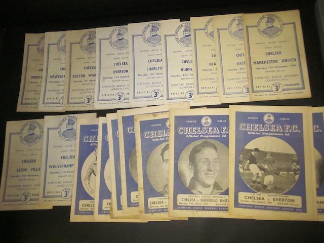 1948/49 Chelsea home programmes