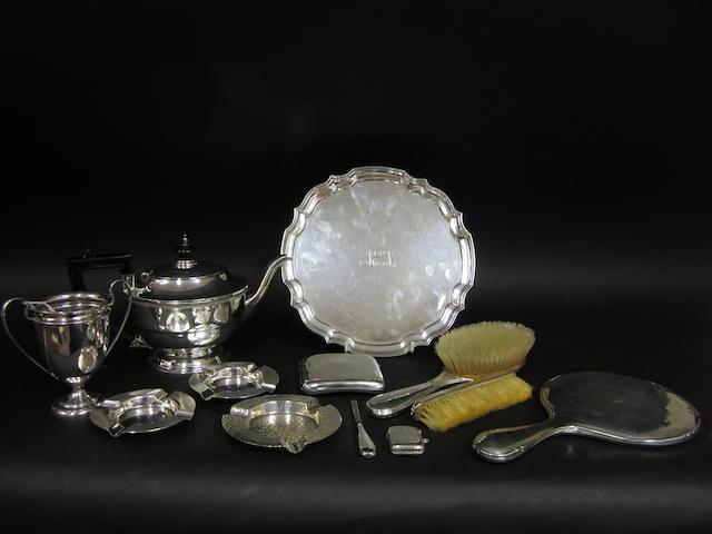 A silver tea pot Birmingham 1934  (12)