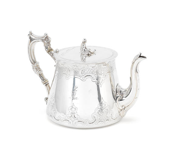 Victorian silver teaport by Elkington
