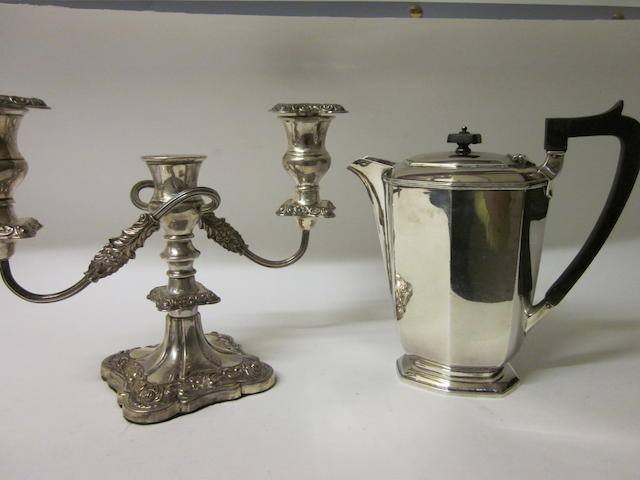 A silver hot water jug Sheffield 1960,  (2)