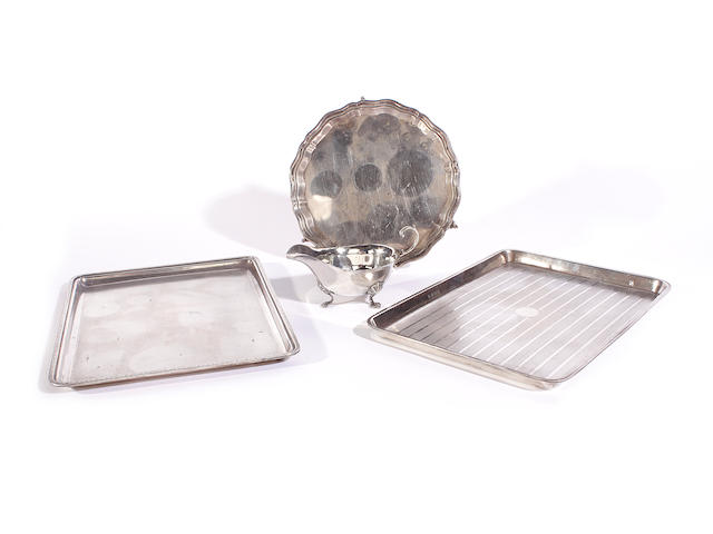 A silver dressing table tray by Mappin and Webb London 1913