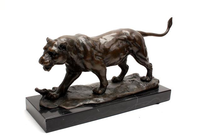 Franz Xaver Bergmann (1861–1936) A bronze tigress