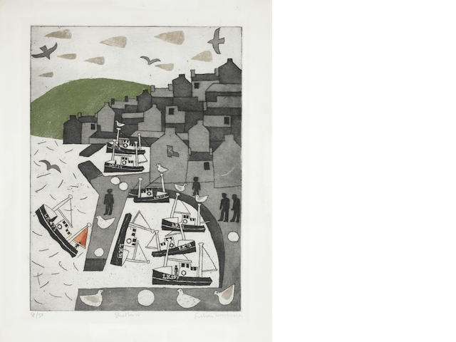 Julian Trevelyan (British, 1910-1988) Shetland Etching and aquatint, printed in colours, signed and numbered from the edition of 50 in pencil, 480 x 340mm (18 7/8 x 13 3/8in)(PL) unframed