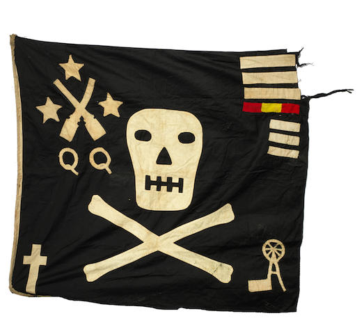 A WWII submarine flag, H.M.S. Trident 1938,