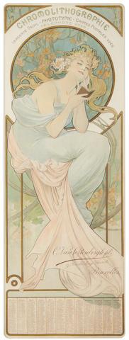 Alphonse Mucha (1860-1939) 'Chromolithographie', circa 1902