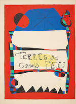 Joan Miró (Spanish, 1893-1983) Terres de Grand Feu Lithograph printed in colours, 1956, on Arches, signed and numbered 34/200 in pencil, printed by Mourlot, published by Maeght Paris, 759 x 556mm (29 7/8 x 21 7/8in)(SH) unframed