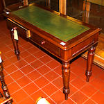 A Victorian mahogany writing table