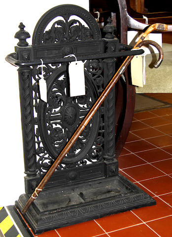 A late Victorian cast iron umbrella stand
