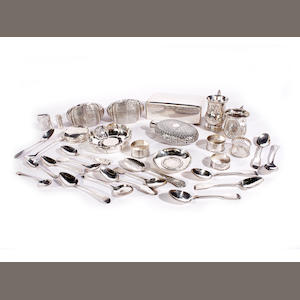 A collection of silver and metalwares  (qty)