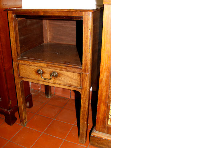 A mahogany night cupboard,