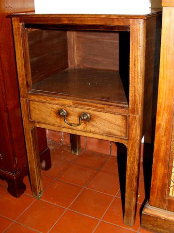 A mahogany night cupboard,