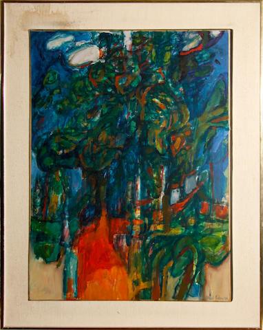 Alfred Cohen (American, 1920-2001) Kent Landscape