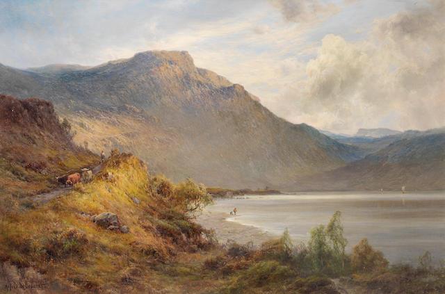 Alfred de Bréanski Snr. (British, 1852-1928) 'The foot of Brander Pass'