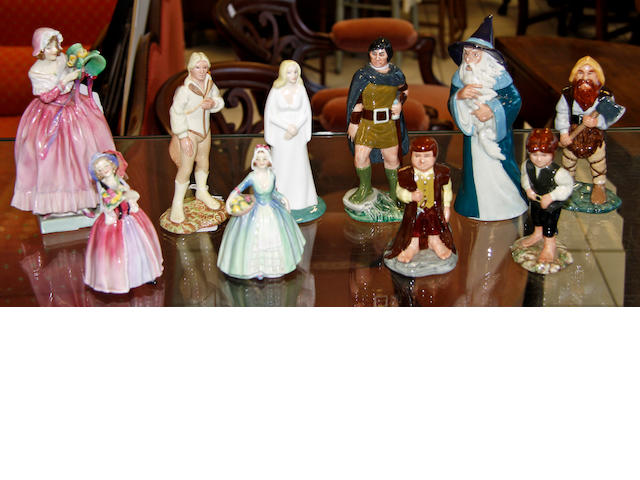 A collection of Royal Doulton 'Middle Earth' figurines
