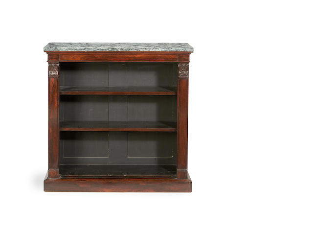 A William IV rosewood low open bookcase