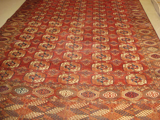 A Tekke carpet, West Turkestan, 373cm x 236cm