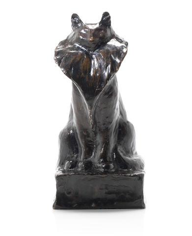Théophile Alexandre Steinlen (1859-1923) Chat assis, circa 1915
