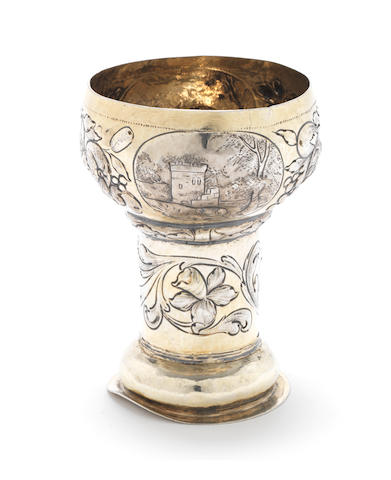 A late 17th century German parcel-gilt rummer/goblet by Christoph Hieronymus Clauss, Nuremberg circa 1690