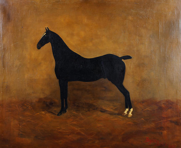 Bryan Butler (British), (19th Century) Horse in a loose box