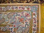 A silk Kashan rug, Central Persia, 209cm x 128cm