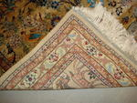 A Hereke silk rug, West Anatolia, 97cm x 76cm together with a pair of Anatolian rugs (3)