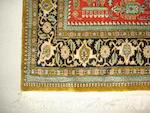 A silk Ghom rug, Central Persia, 162cm x 105cm