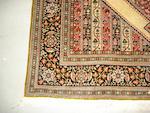 A Ghom silk rug, Central Persia, 206cm x 138cm