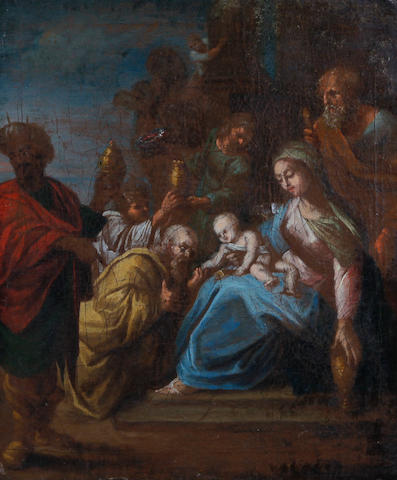 Manner of Frans Francken III Adoration of the Magi