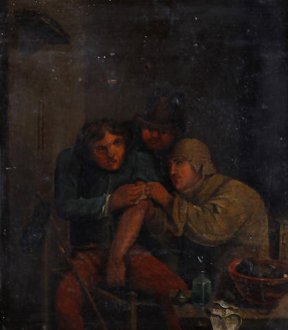 After Adriaen Brouwer Blood taking at the quack doctors