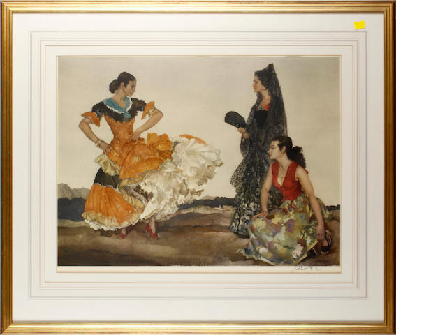 William Russell Flint (Scottish, 1880-1969) The Dance of a Thousand Flounces