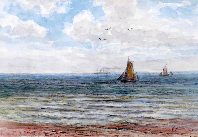James Orrock (British, 1829-1913) 'Hastings' and 'Brighton'