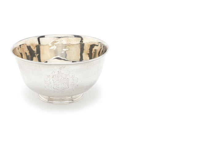 An 18th century Irish silver bowl by Thomas Walker, Dublin, no date letter, second quarter of 18th century