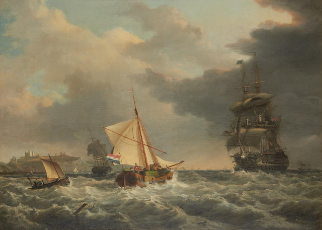 George Chambers, Snr. (British, 1803-1840) Off Dover Castle