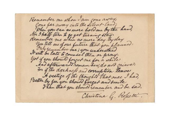 ROSSETTI, CHRISTINA (1830-1894)